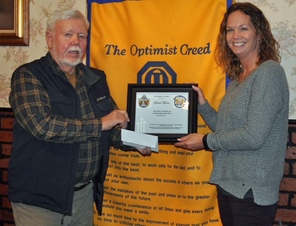 Morris receives Optimist Outstanding Educator Award