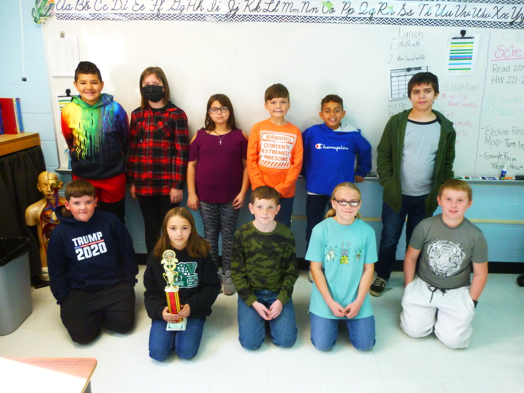 5B Reading Counts October Winners