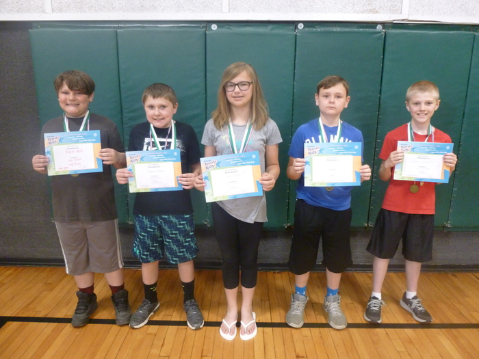 4th and 5th grade May Students of the Month