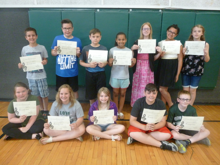 5th Grade Choir Awards