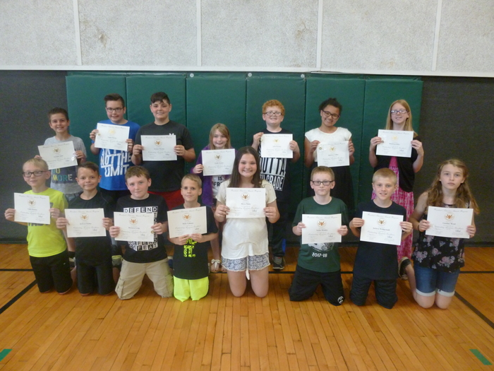 5th Grade Presidential Education Award Winners
