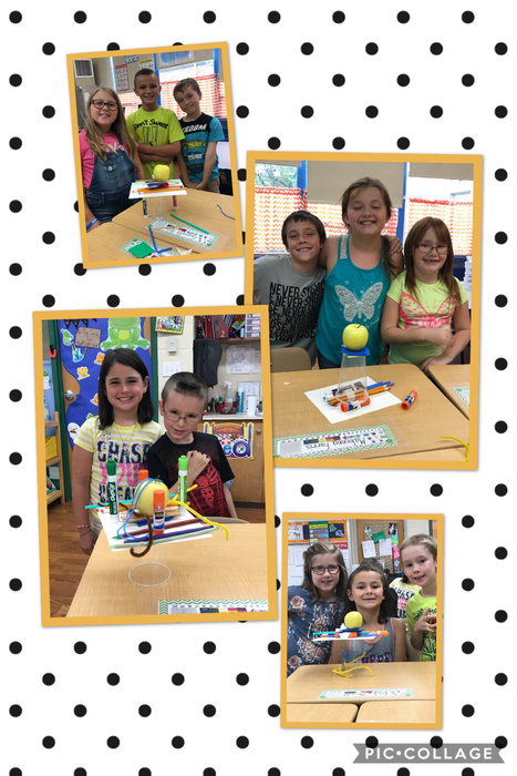 School supply tower STEM challenge.