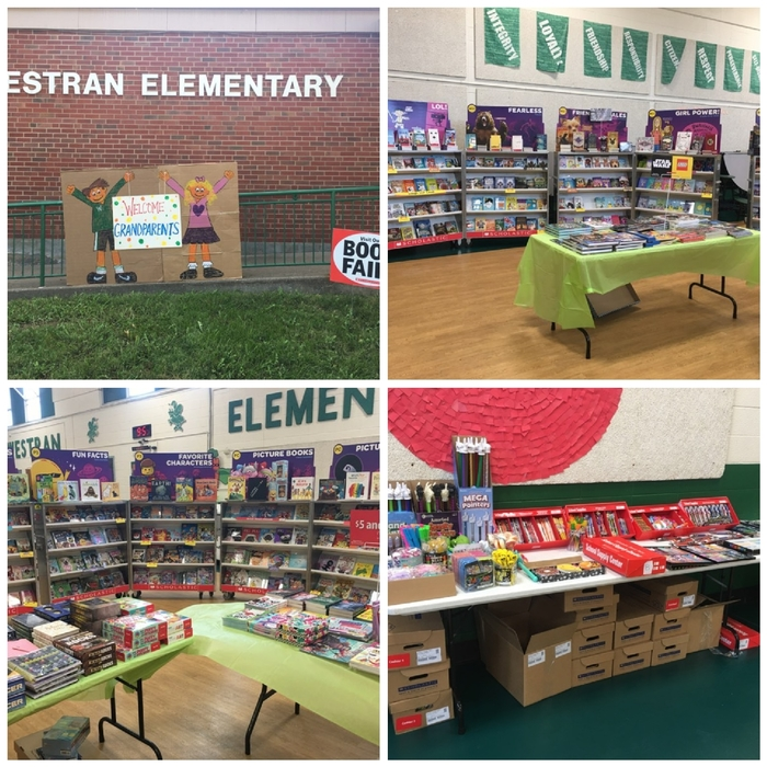 Book fair open 10-3 today for Grandparent's Day