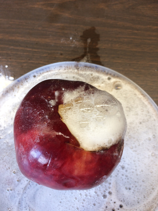 Exploding apple experiment