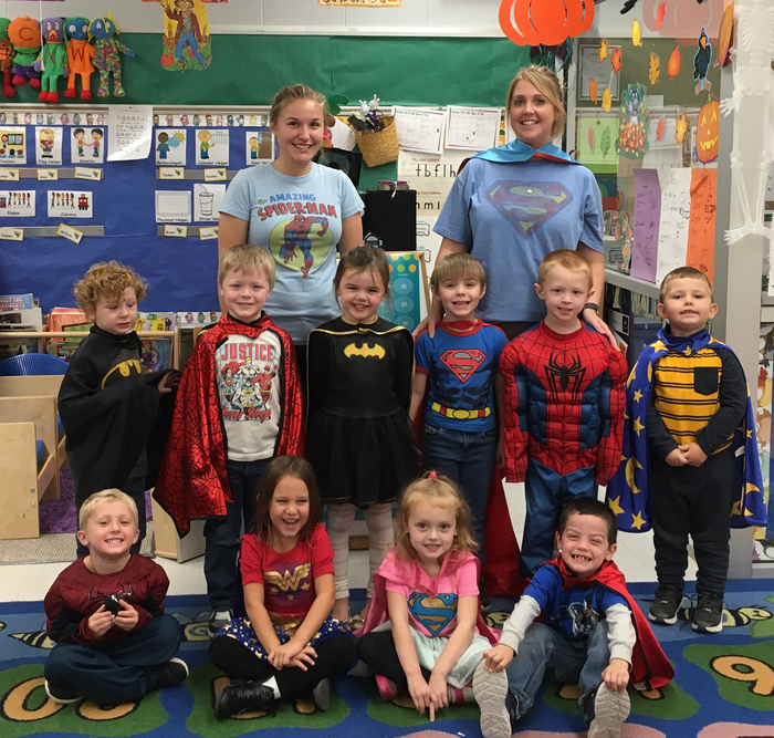 Superhero fun in preschool, for red ribbon week!