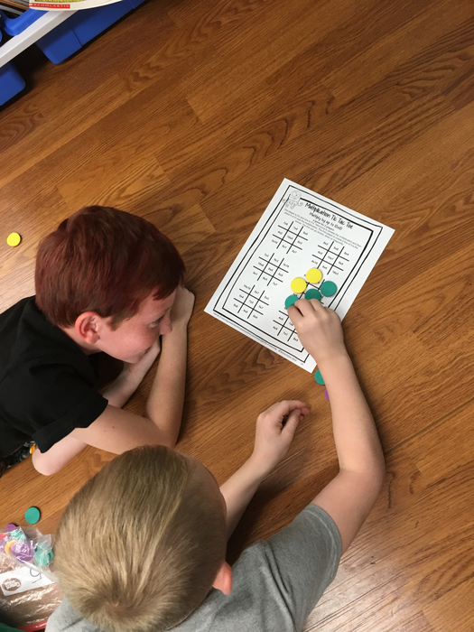 Multiplication tic tac toe!