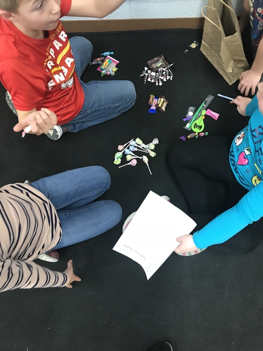 Sorting and graphing a variety of Halloween candy!