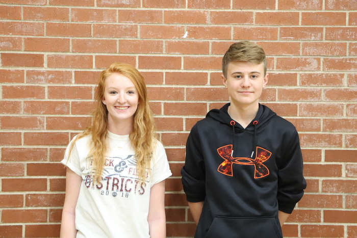 October Student of the Month - Persistent goes to Jenna and Colin