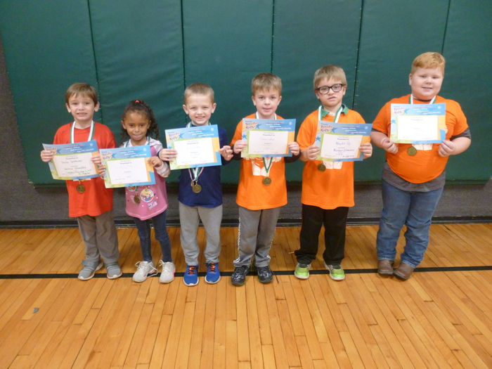 Kindergarten/1st Grade November Students of the Month