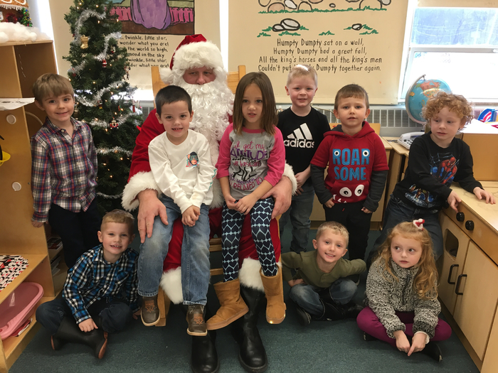 Santa and the PM Preschool Class