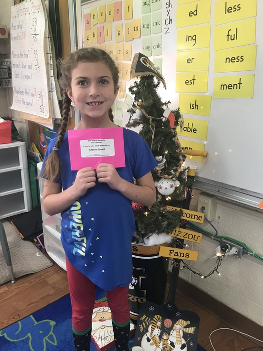 2C is proud of Addison, she was the top seller for the PTSO fundraiser!