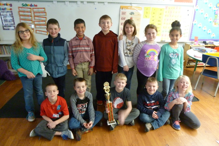 2A December Reading Counts Traveling Trophy winners