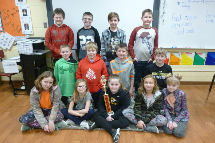 4A December Reading Counts Traveling Trophy winners