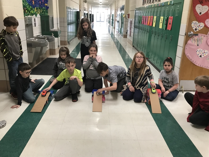 Testing our inclined planes.