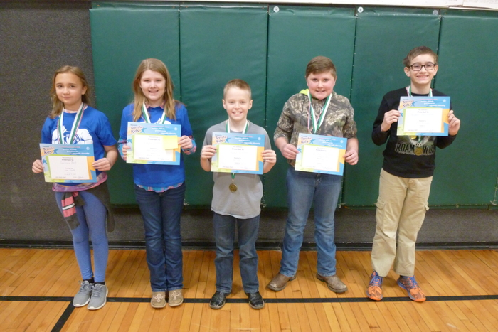 4th and 5th Grade March Students of the Month