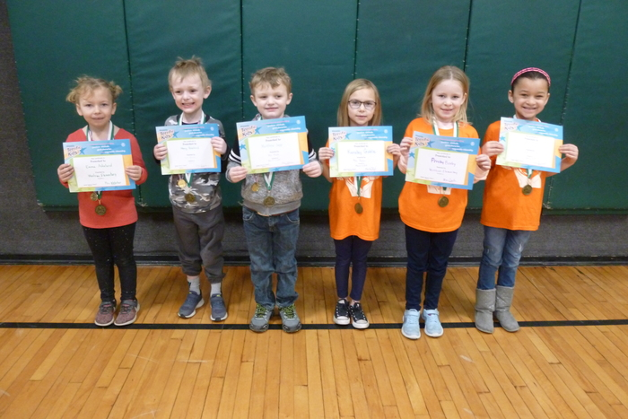 Kindergarten and 1st Grade March Students of the Month