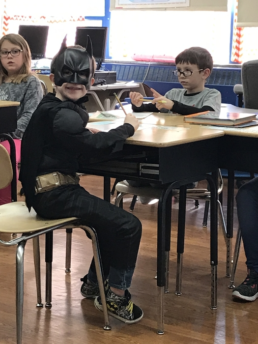 Even Batman had to take the spelling test!