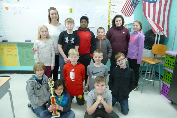 Winners of the Reading Counts Trophy for the Month of February 4C!