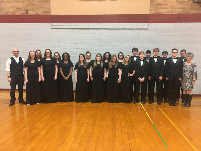 "The High School Choir performed at MSHSAA State Large Ensemble Festival today and received an Outstanding ""2"" Rating."