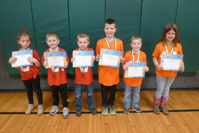 Kindergarten and 1st Grade Students of the Month
