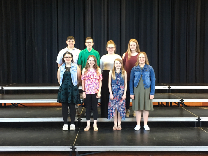 6th Grade Honor Choir Participants.