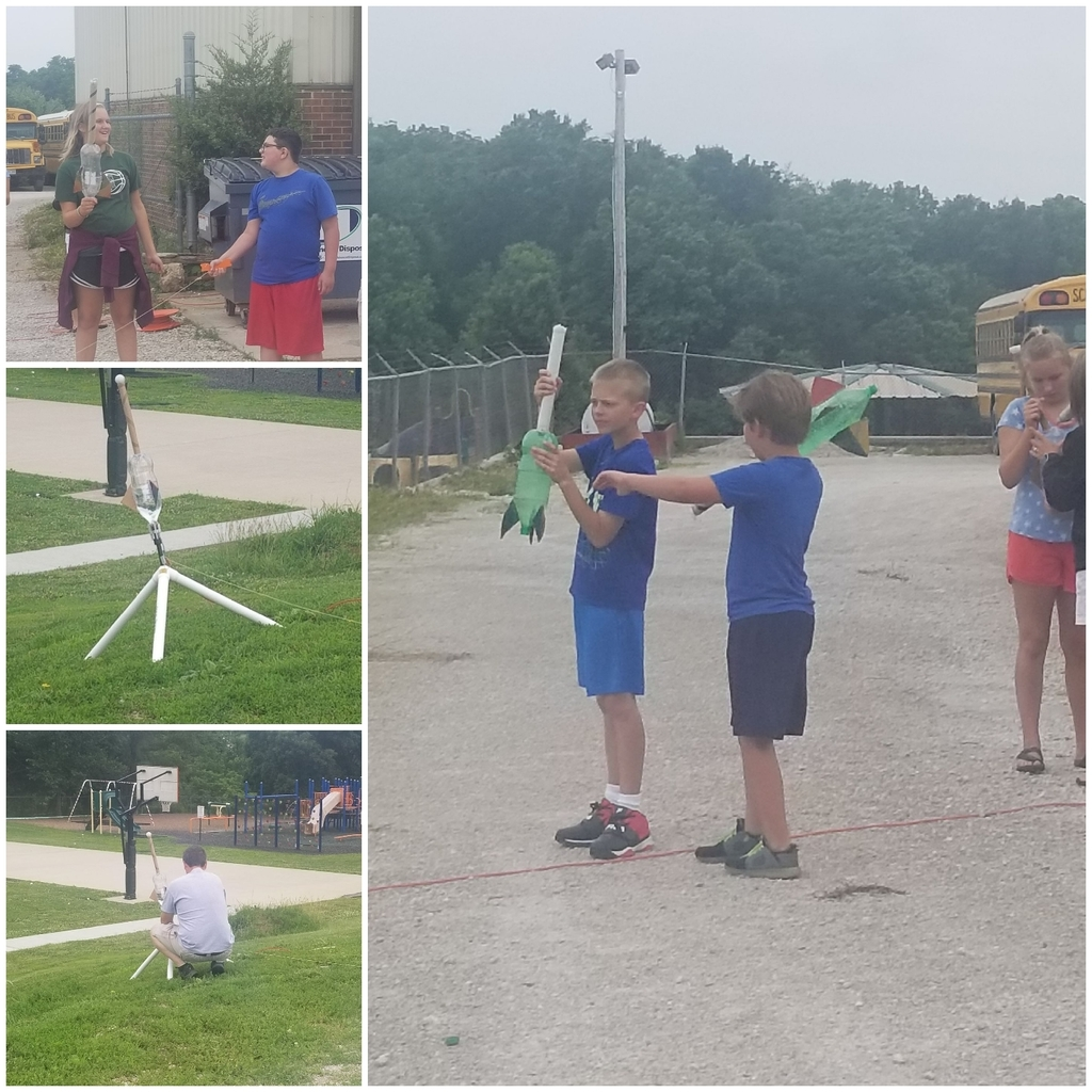 5th grade flying their rockets at summer school!
