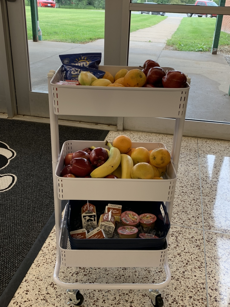 Afternoon snack break cart for high school students.