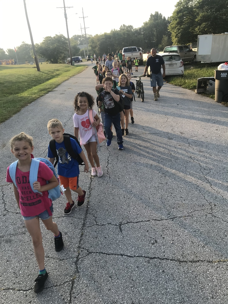 2A at walk to school day and the parade!