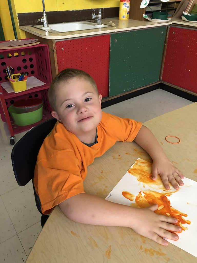 Finger paint Friday!