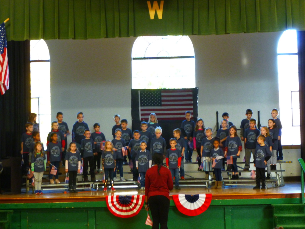 1st Grade performing at the Elementary Veterans Day Assembly