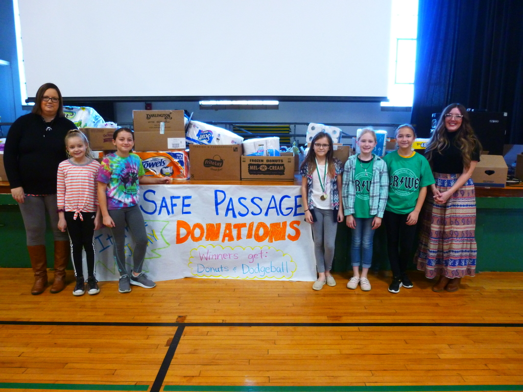 StuCo with Safe Passage Donations